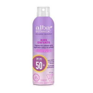 Alba Botanica Very Emollient Kids Continuous Spray Sunscreen SPF 50+