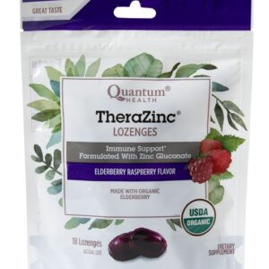 TheraZinc® Organic Elderberry Raspberry Bagged Lozenges
