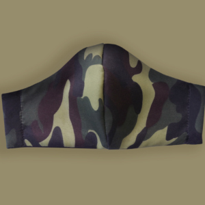 Kids Camo Print Face Mask