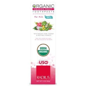 Radius Organic Dragon Fruit Kids Gel Toothpaste