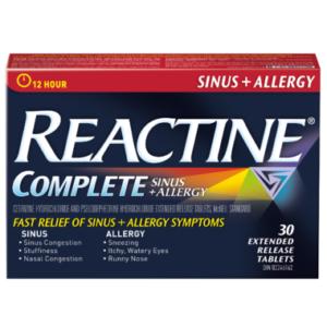 Reactine Complete Sinus and Allergy