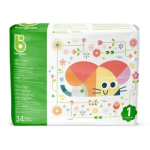 babyganics Skin Love Ultra Absorbent Diapers Size 1