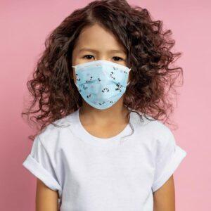 Kids Disposable Blue Panda Masks